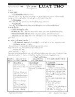 Tiết 23 Luật thơ