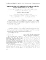 ĐÁNH GIÁ SINH TRƯỞNG, PHÁT TRIỂN VÀ NĂNG SUẤT CỦA MỘT SỐ GIỐNG DƯA LÊ NHẬP NỘI TỪ TRUNG QUỐC TẠI GIA LÂM, HÀ NỘI