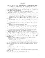 Tập ( đề - đáp án )- hướng dẫn cách làm bài Ngữ văn vào THPT
