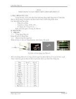 Nhận dạng và dịnh chân linh kiện điện tử bài 6