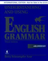 Understanding and using english grammar (with answer key)