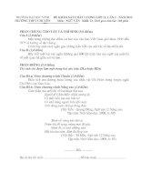 ĐỀ KHẢO SÁT CHẤT LƯỢNG LỚP 12, LẦN 2 - NĂM 2012  Môn:  NGỮ VĂN   Khối: D