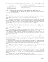 ĐỀ THI CHỌN HỌC SINH GIỎI GIẢI TOÁN – LÝ – HÓA – SINH TRÊN MÁY TÍNH CẦM TAY NĂM HỌC 2011-2012 MÔN SINH HỌC KHỐI 12 – SỞ GIÁO DỤC VÀ ĐÀO TẠO LONG AN