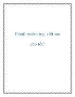 Email marketing, viết sao cho tốt