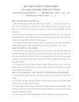 QUY CHẾ TỔ CHỨC VÀ HOẠT ĐỘNG CỦA BAN GIÁM ĐỐC CÔNG TY CỔ PHẦN