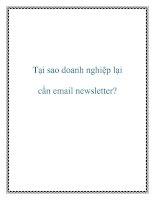 Tại sao doanh nghiệp lại cần email newsletter