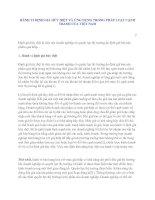 HÀNH VI ĐỊNH GIÁ HỦY DIỆT VÀ ỨNG DỤNG TRONG PHÁP LUẬT CẠNH TRANH CỦA VIỆT NAM