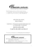 Bài giảng: Giá trị lớn nhất và giá trị nhỏ nhất của hàm số (Giải tích 12 - Chương I: ỨNG DỤNG ĐẠO HÀM ĐỂ KHẢO SÁT VÀ VẼ ĐỒ THỊ HÀM SỐ)