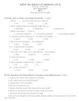 Kiểm tra định kì II lop 7