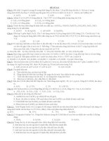 ĐỀ THI ĐẠI HỌC THỬ VÀ ĐÁP ÁN   ĐỀ SỐ 23     BÀI KIỂM TRA KIẾN THỨC MÔN HÓA HỌC LỚP 12