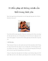 11 điều phụ nữ thông minh cần biết trong tình yêu