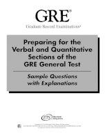 Graduate School - Verbal And Quantitative Practice, Gre