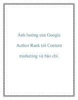Ảnh hưởng của google author rank tới content marketing và báo chí