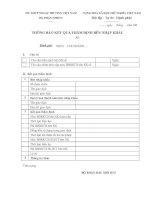 Mẫu thông báo kết quả thẩm định bên nhập khẩu (bộ phận đầu mối bao thanh toán lập)
