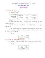 Hướng dẫn ôn tập thi tuyển sinh lớp 10 môn ngữ Văn