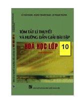tóm tắt lí thuyết hóa và hướng dẫn giải bài tập hóa 10 theo từng chương