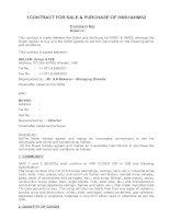 Mẫu hợp đồng mua bán ngoại, kèm bản dịch tiếng việt