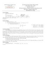 Đề thi tuyển sinh lớp 10 THPT năm học 2012-2013 môn TOÁN – Sở giáo dục đào tạo LẠNG SƠN