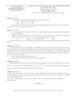 ĐỀ THI CHỌN HỌC SINH GIỎI TỈNH LỚP 9 THCS NĂM 2010 - 2011 MÔN HÓA HỌC - SỞ GIÁO DỤC VÀ ĐÀO TẠO ĐẮK NÔNG