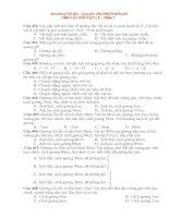 1000 câu hỏi trac nghiem VL ôn thi vào ĐHCĐ Phần 7.doc