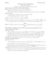 Đề thi thử đại học môn toán khối A