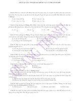 tổng hợp các đề thi vật lý tốt nghiệp và đại học