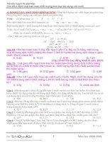 Các dạng bài toán kim loại + muối