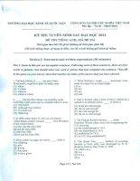 KỲ THI TUYỂN SINH SAU ĐẠI HỌC 2012 ĐỀ THI TIẾNG ANH TRƯỜNG ĐẠI HỌC KINH TẾ QUỐC DÂN