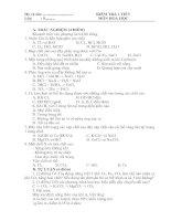 Đề kiểm tra HK II - Hóa 9 (đề 1)