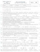 Đề thi thử tốt nghiệp vật lý 2009 - số 1
