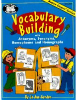 Vocabulaty buiding with antonyms, synonyms, homophones and homographs