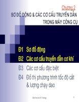 PP BÀI GIẢNG MÁY CÔNG CỤ  chuong 2 so do dong va cac co cau