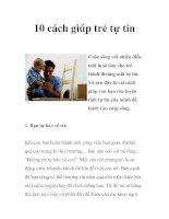10 cách giúp trẻ tự tin