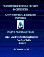General rules of electrical installation design