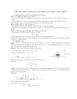 Phương pháp giải bài toán Động lực học chất điểm