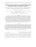 ẢNH HƯỞNG CỦA ĐỘ THIẾU HỤT NƯỚC Ở CÁC GIAI ĐOẠN SINH TRƯỞNG ĐẾN QUANG HỢP, NĂNG SUẤT VÀ HIỆU SUẤT SỬ DỤNG NƯỚC CỦA NGÔ NẾP