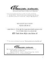 Bài giảng: Tính đơn điệu của hàm số (Giải tích 12 - Chương I: ỨNG DỤNG ĐẠO HÀM ĐỂ KHẢO SÁT VÀ VẼ ĐỒ THỊ HÀM SỐ)