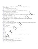 14 đề thi thử đại học
