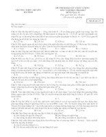 ĐỀ THI KHẢO SÁT CHẤT LƯỢNG  ĐẦU NĂM HỌC 2012-2013 MÔN Vật lý 12 TRƯỜNG THPT CHUYÊN HÀ TĨNH