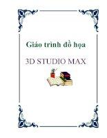 Giáo trình đồ họa 3d STUDIO MAX