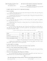 ĐỀ THI TUYỂN SINH CAO ĐẲNG NĂM 2013 Môn ĐỊA LÍ Khối C, CÓ ĐÁP ÁN