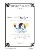 Bài tập lớn hệ điều hành window server 2003