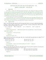 Lời giải chi tiết đề thi đại học môn hóa khối a 2007
