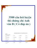 3500 câu hỏi luyện thi chứng chỉ anh văn b ( có đáp án )
