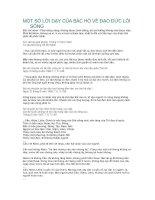 Một số lời dạy của Bác Hồ về đạo đức lối sống