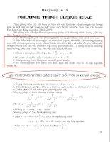Bài giảng số 18 phương trình lượng giác (ôn thi đại học)
