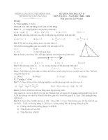 Đề Kiểm tra học kỳ II Toán 8 (08-09) hay