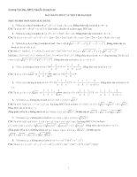 Một số bài tập về BĐT ôn thi ĐH có lời giải