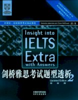 Insight to IELTS extra with answer