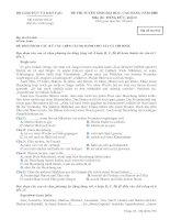 ĐỀ THI TUYỂN SINH ĐẠI HỌC, CAO ĐẲNG NĂM 2008 Môn thi: TIẾNG ĐỨC, khối D - Mã đề thi 936
